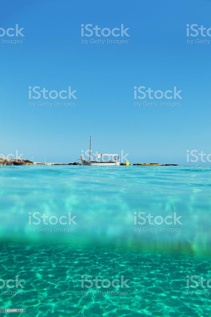Idyllic Mediterranean holidays royalty-free stock photo