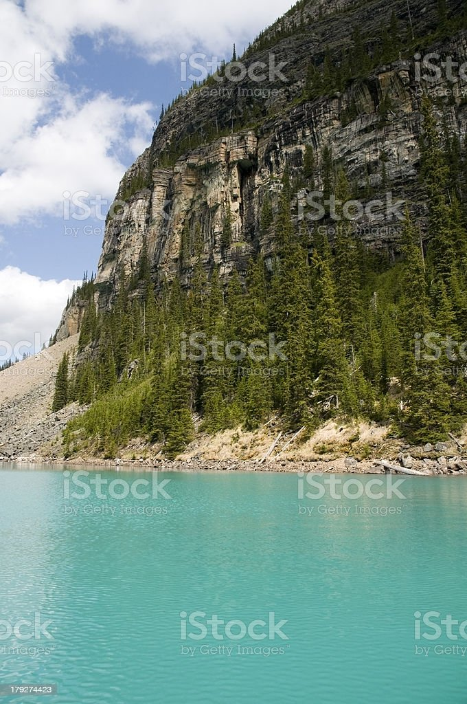 Idyllic Mountain, Glacial Lake, nature background stock photo