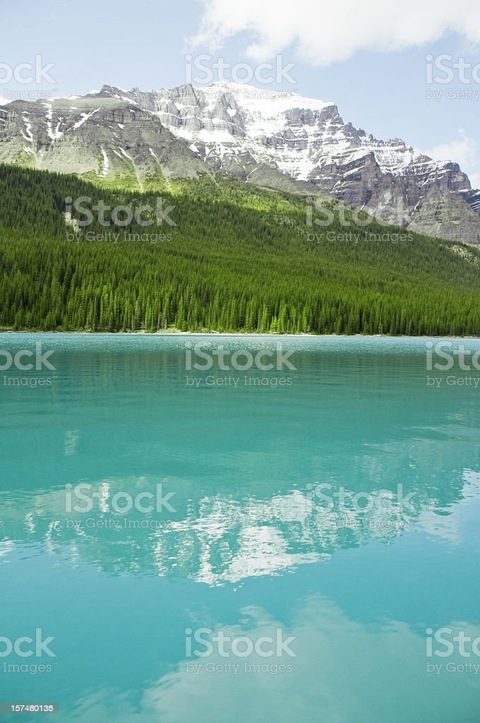 Idyllic Mountain, Glacial Lake stock photo