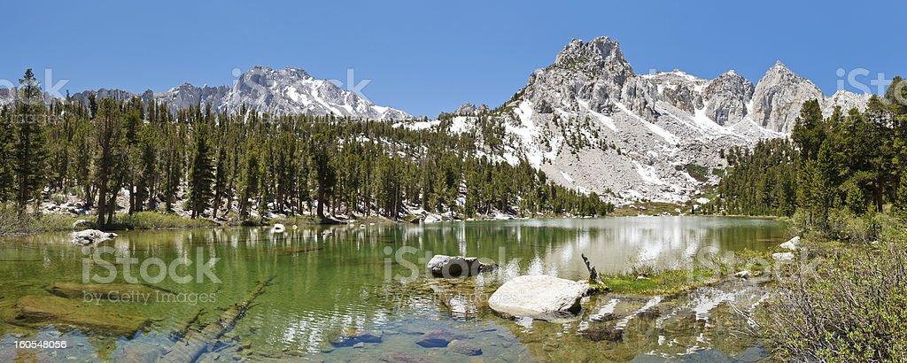 Idyllic Mountain Lake stock photo