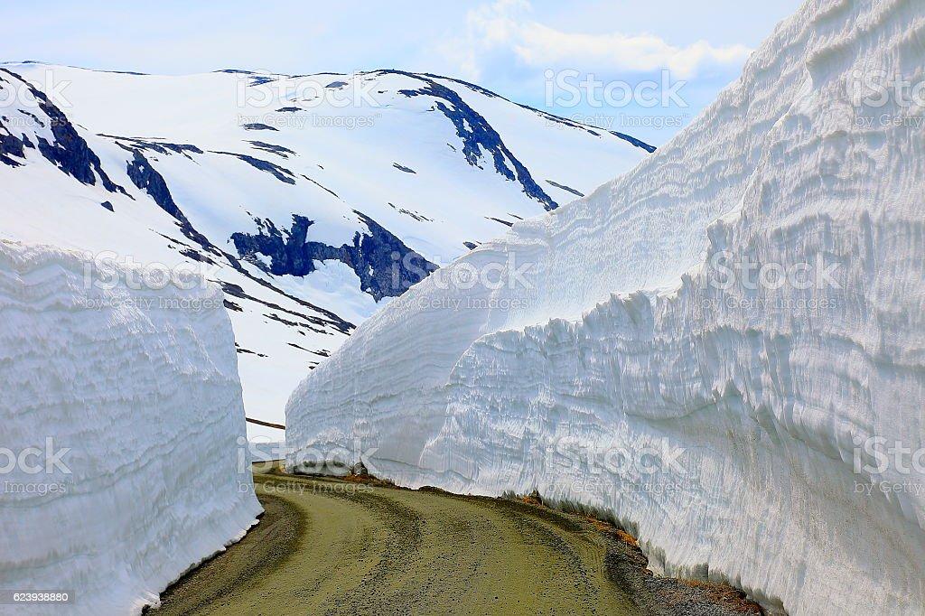 Idyllic Norwegian Gamle Strynefjellsvegen National Tourist route, Norway, Scandinavia stock photo