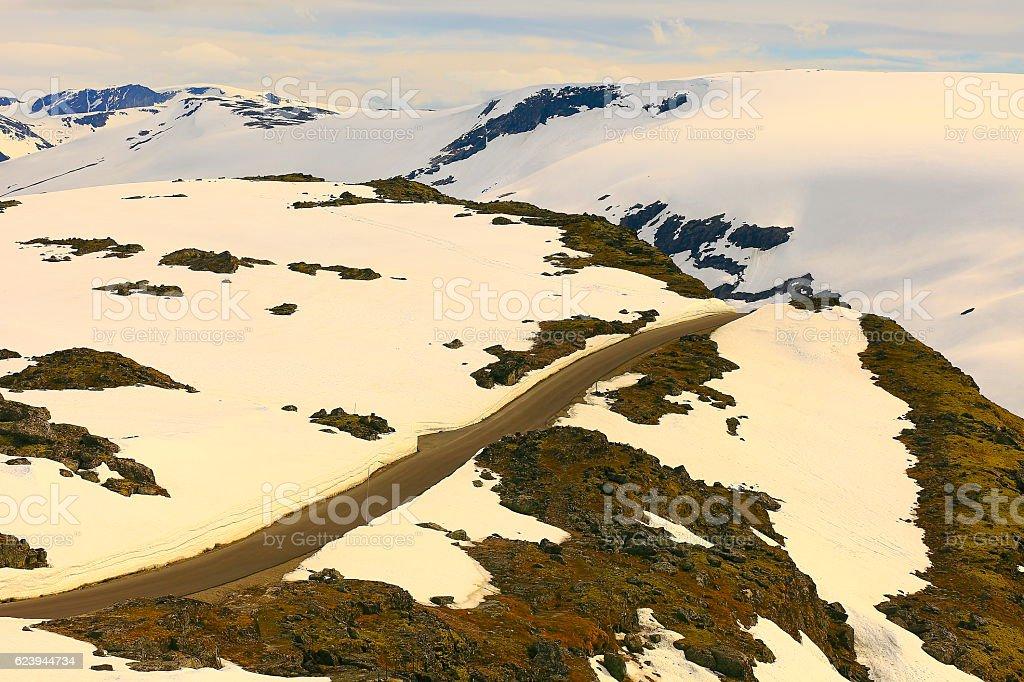 Idyllic Norwegian Sognefjellsvegen National Tourist route, Jotunheimen, Norway, Scandinavia stock photo