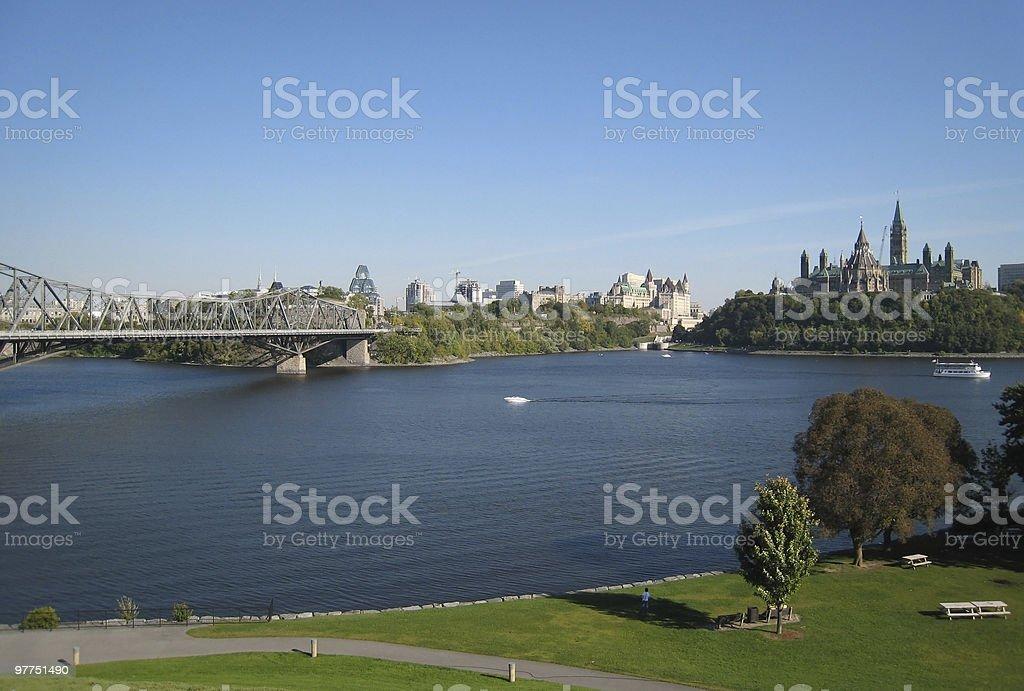 idyllic Ottawa scenery stock photo