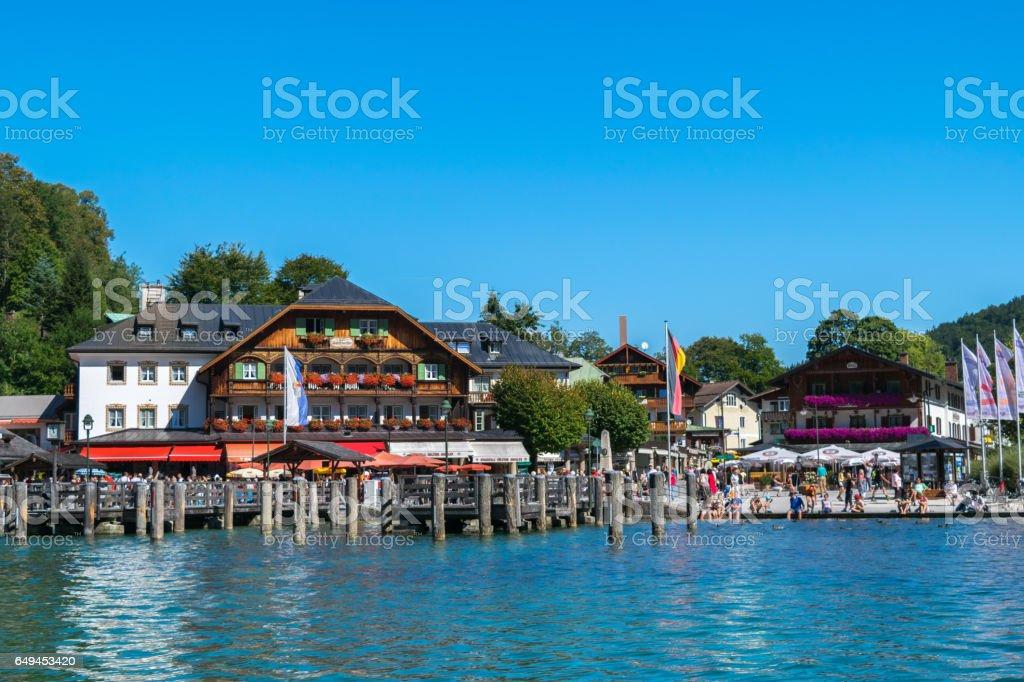 Idyllic panorama glacier lake Konigsee,Bavaria,Germany,Western Europe stock photo