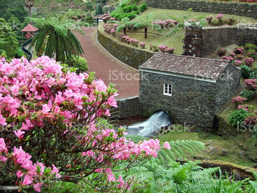idyllic park at São Miguel Island royalty-free stock photo