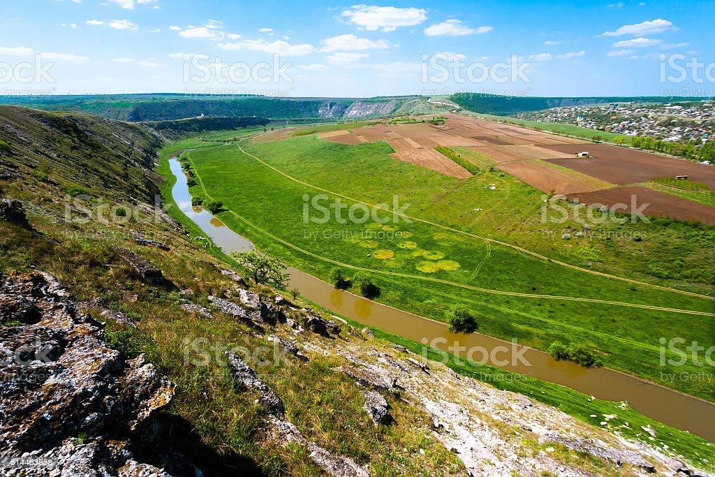 Idyllic River Valley stock photo