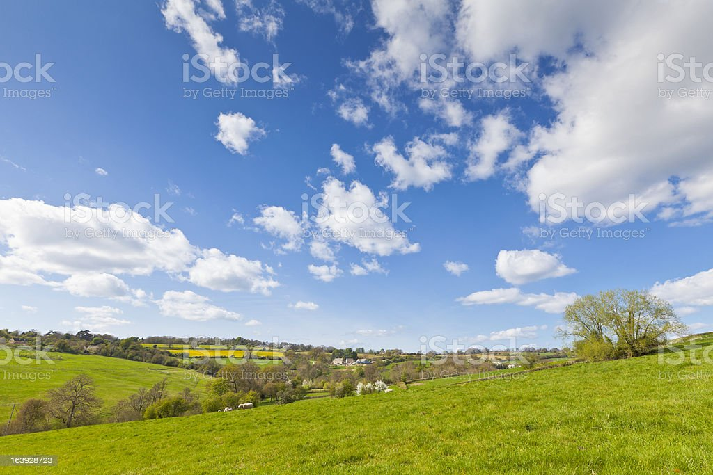 Idyllic rural, Cotswolds UK stock photo