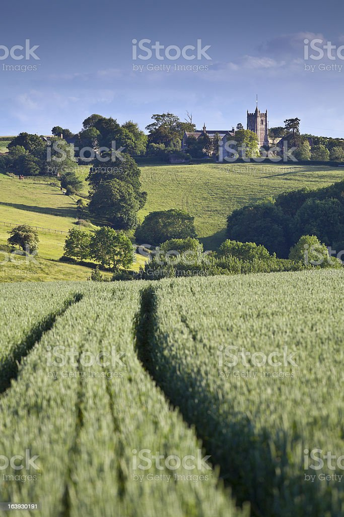 Idyllic rural, Cotswolds UK stock photo