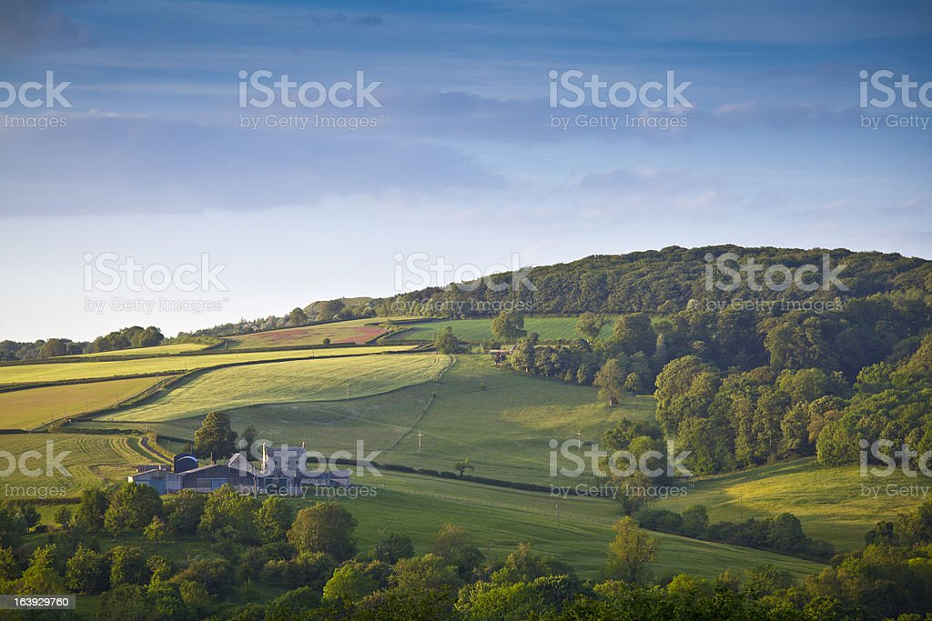 Idyllic rural farm, Cotswolds UK royalty-free stock photo