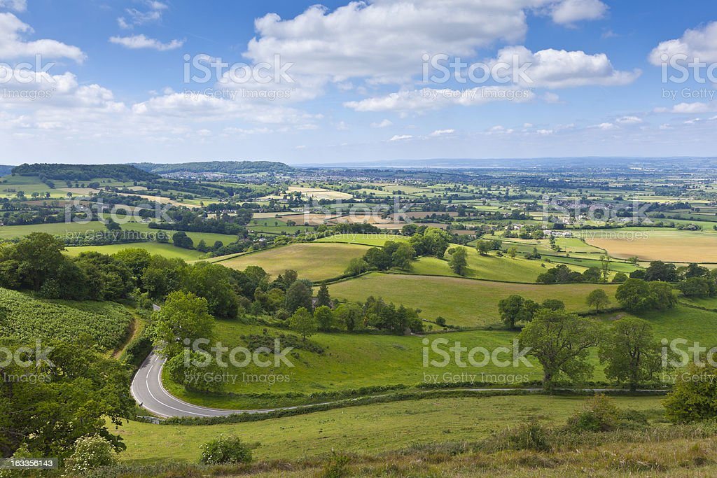 Idyllic rural farmland in Cotswolds, England, UK royalty-free stock photo