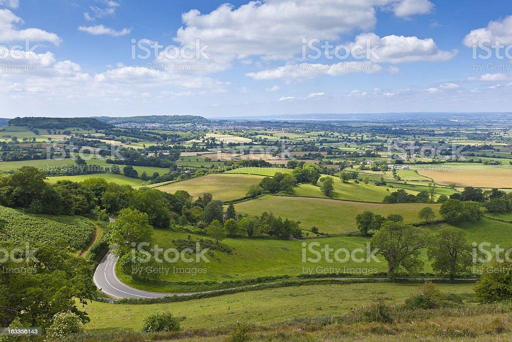 Idyllic rural farmland in Cotswolds, England, UK stock photo