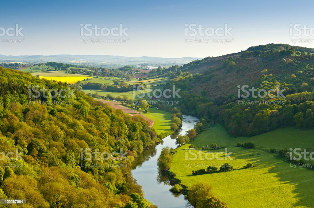 Idyllic rural stock photo