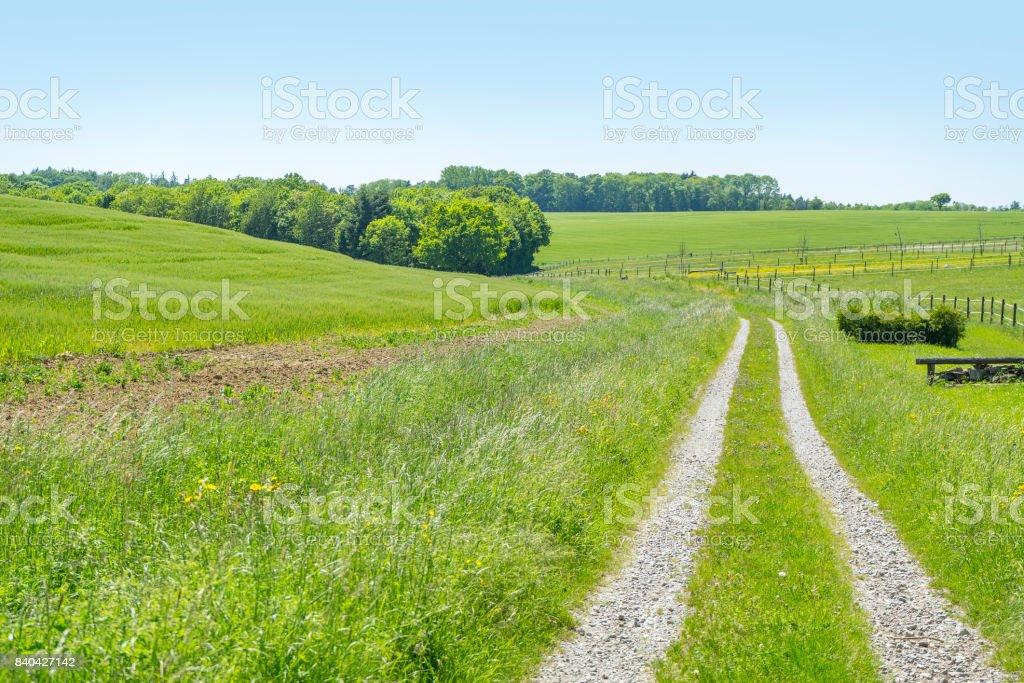 idyllic rural scenery stock photo