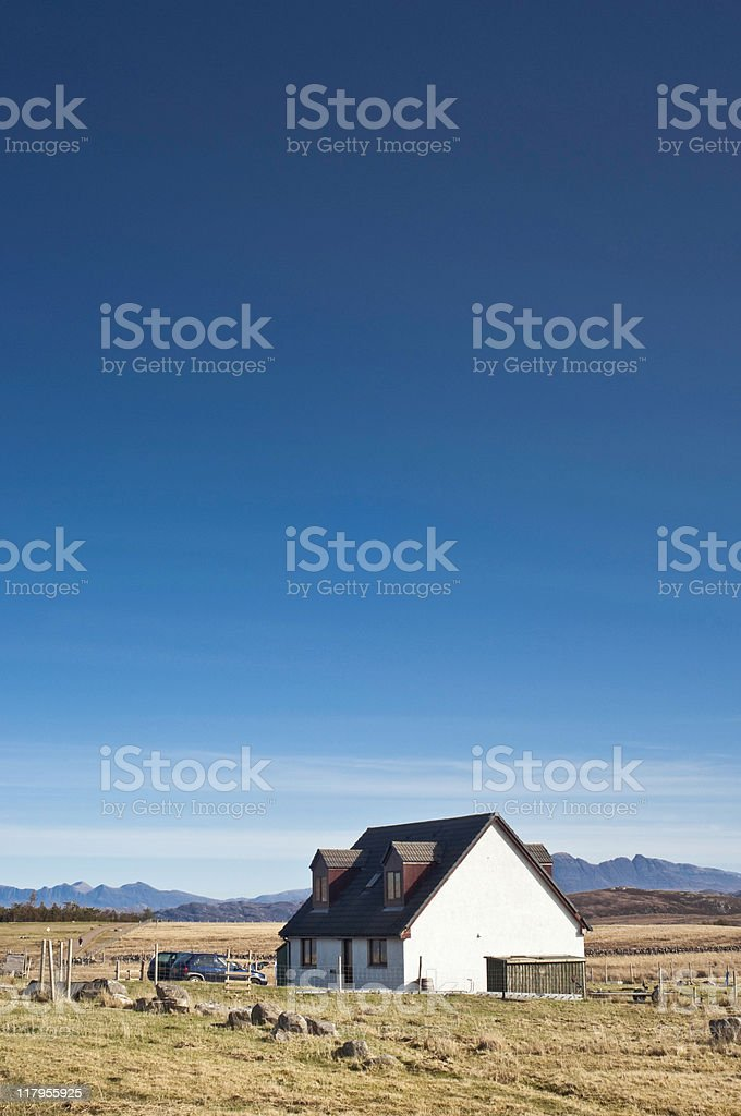 Idyllic rural with copy space stock photo