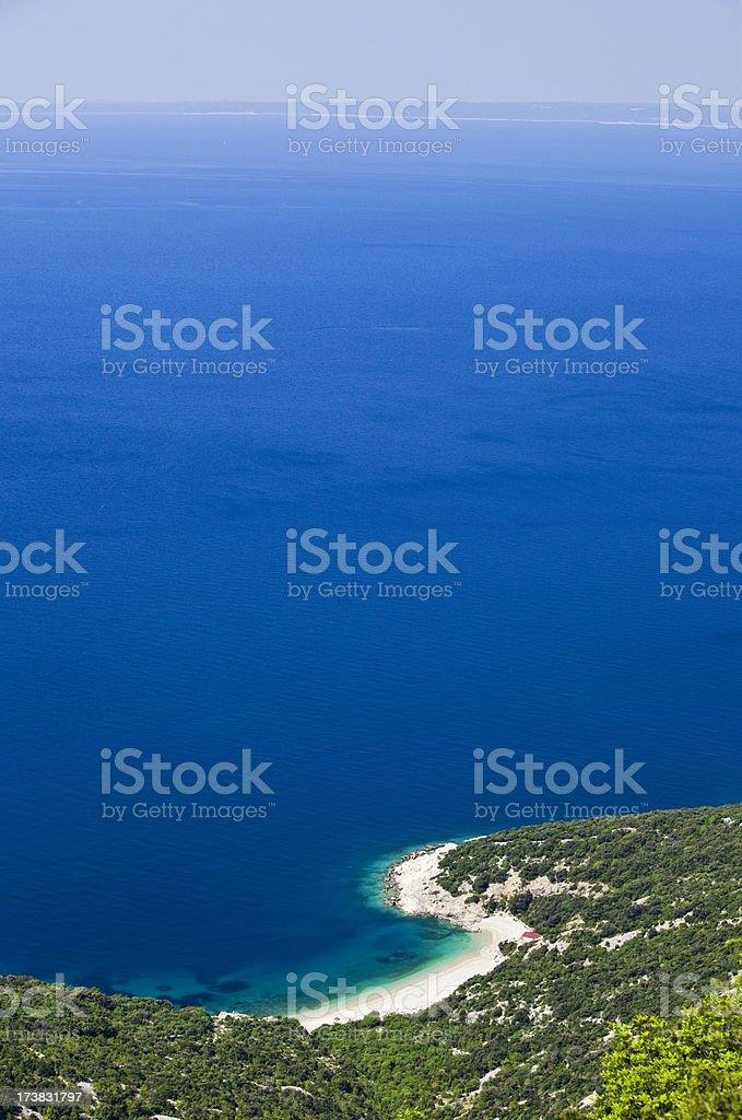 Idyllic sandy beach stock photo