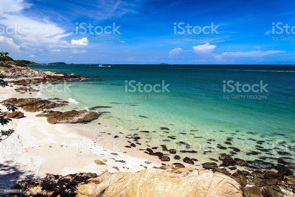 Idyllic Scene Beach at Samed Island,Thailand stock photo