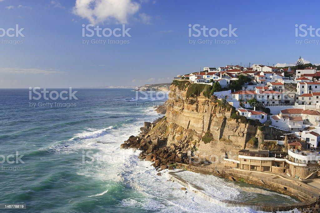 Idyllic Seaside Village royalty-free stock photo