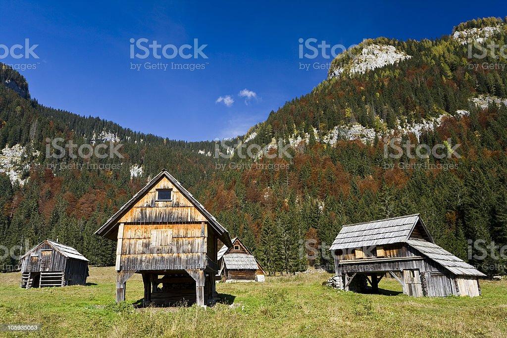 idyllic shepherd settlement stock photo