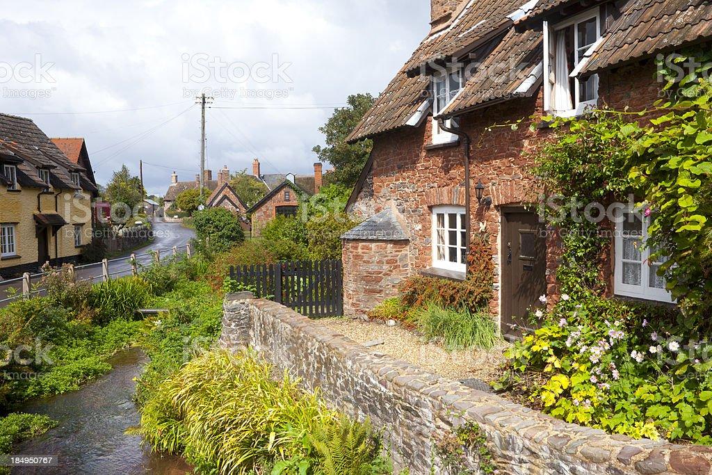 Idyllic Somerset Village royalty-free stock photo