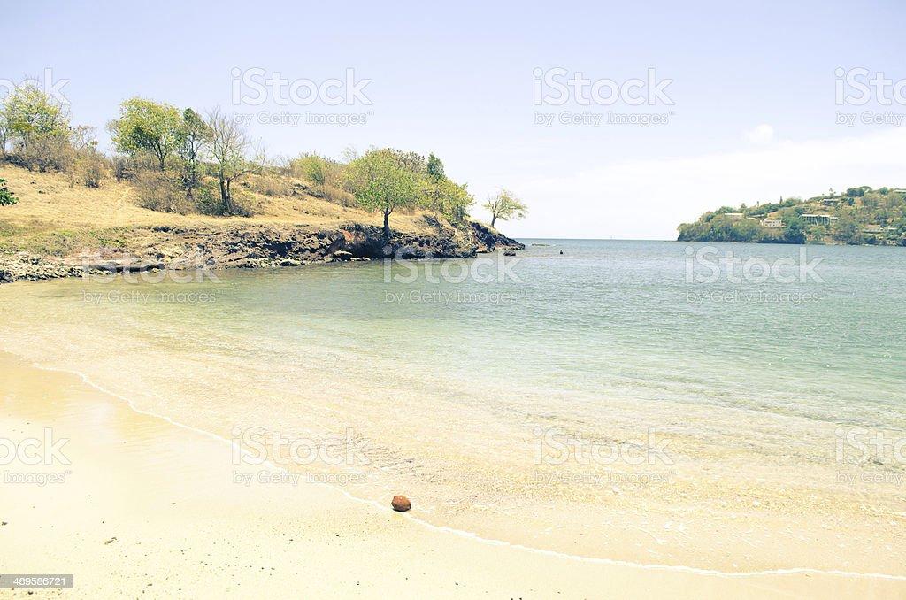 idyllic summer bay stock photo