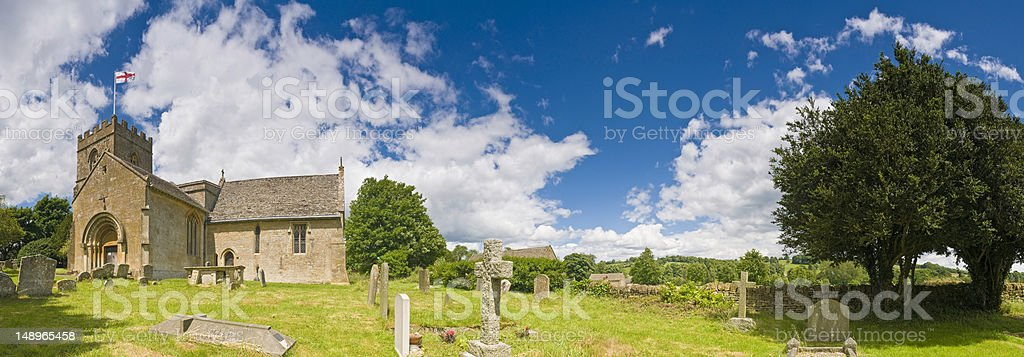 Idyllic summer English country churchyard royalty-free stock photo