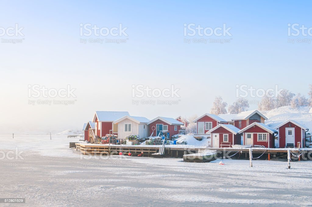 Idyllic Swedish coast stock photo