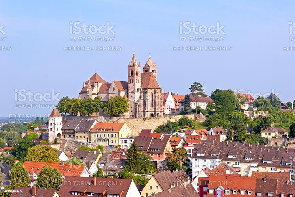 Idyllic town Breisach stock photo
