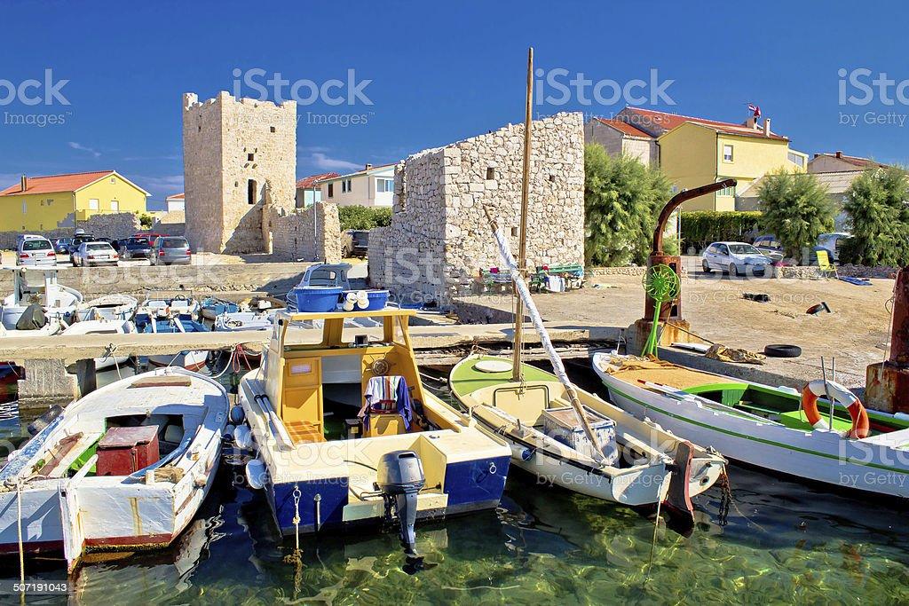 Idyllic town of Razanac waterfront royalty-free stock photo