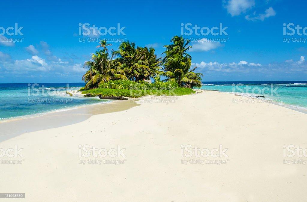 Idyllic tropical island stock photo