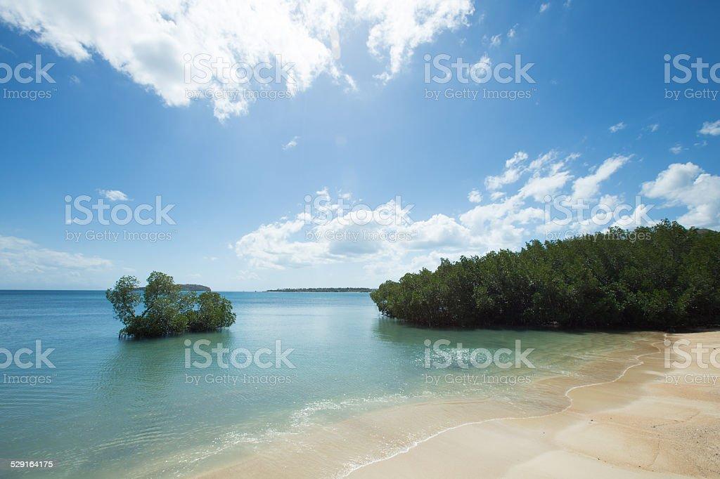 Idyllischen tropischen Lagune in Lombok, Indonesien Lizenzfreies stock-foto