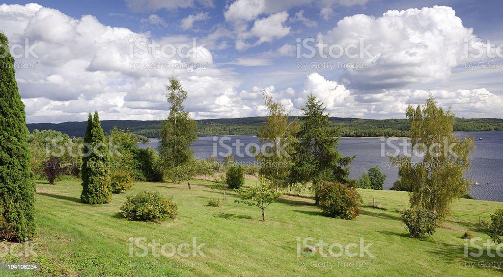 Idyllic view for the lake royalty-free stock photo