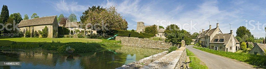 Idyllic village pastoral panorama royalty-free stock photo