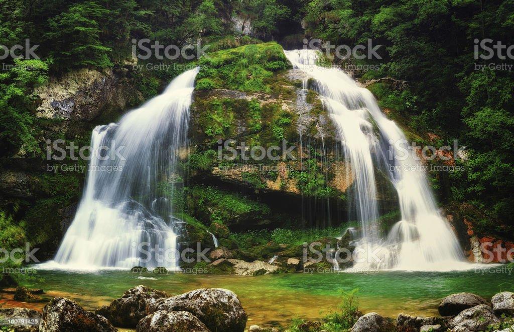 Idyllic Waterfall royalty-free stock photo