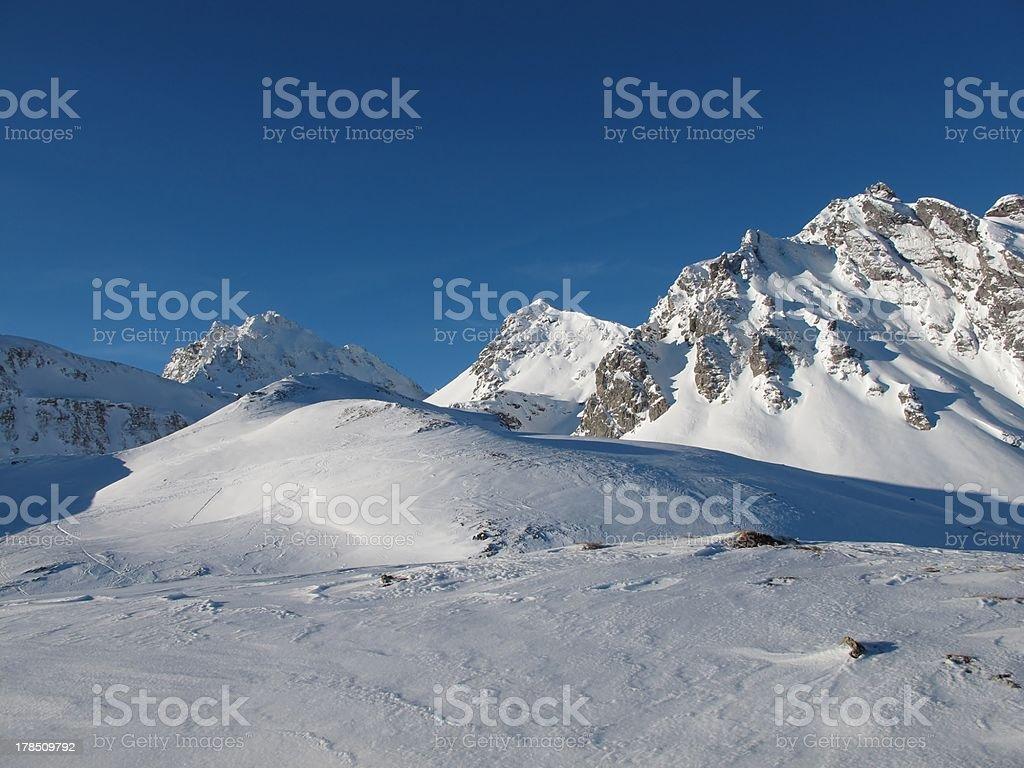 Idyllic Winter Scenery In The Alps stock photo