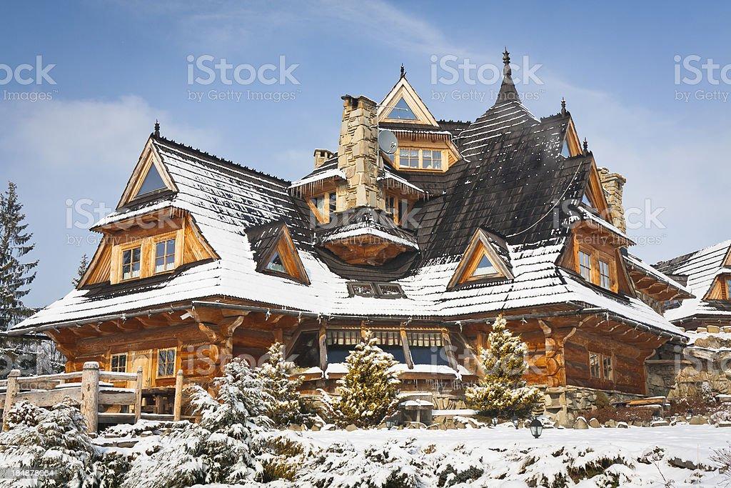 Idyllic wooden House royalty-free stock photo