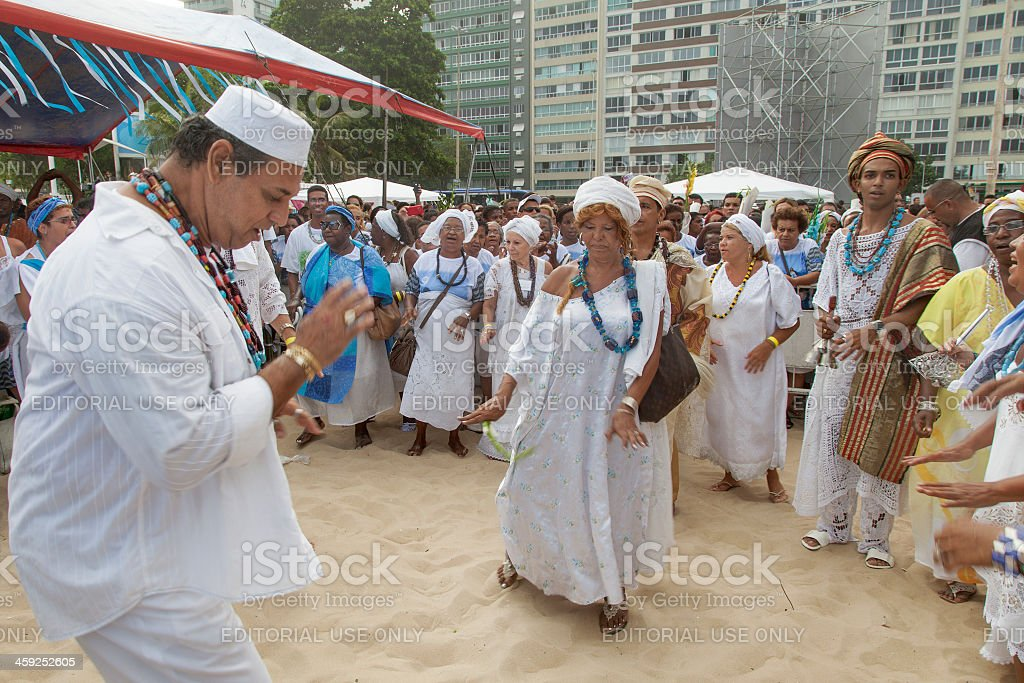 Iemanja´s honour party in Rio de Janeiro royalty-free stock photo