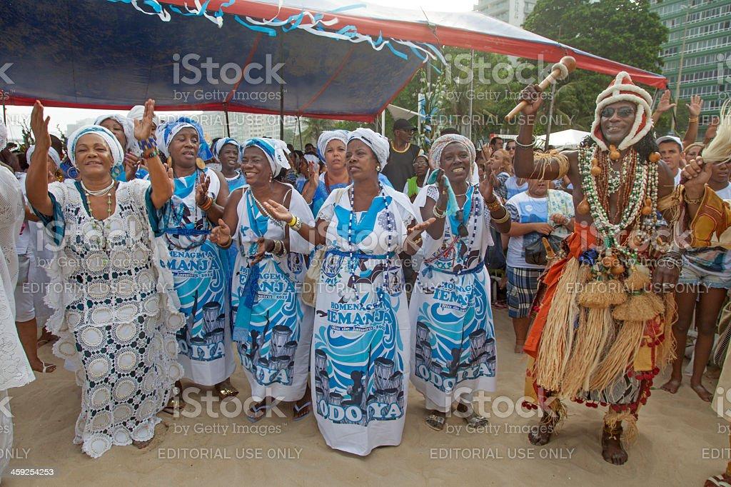 Iemanja´s honour party in Rio de Janeiro royalty-free stock photo