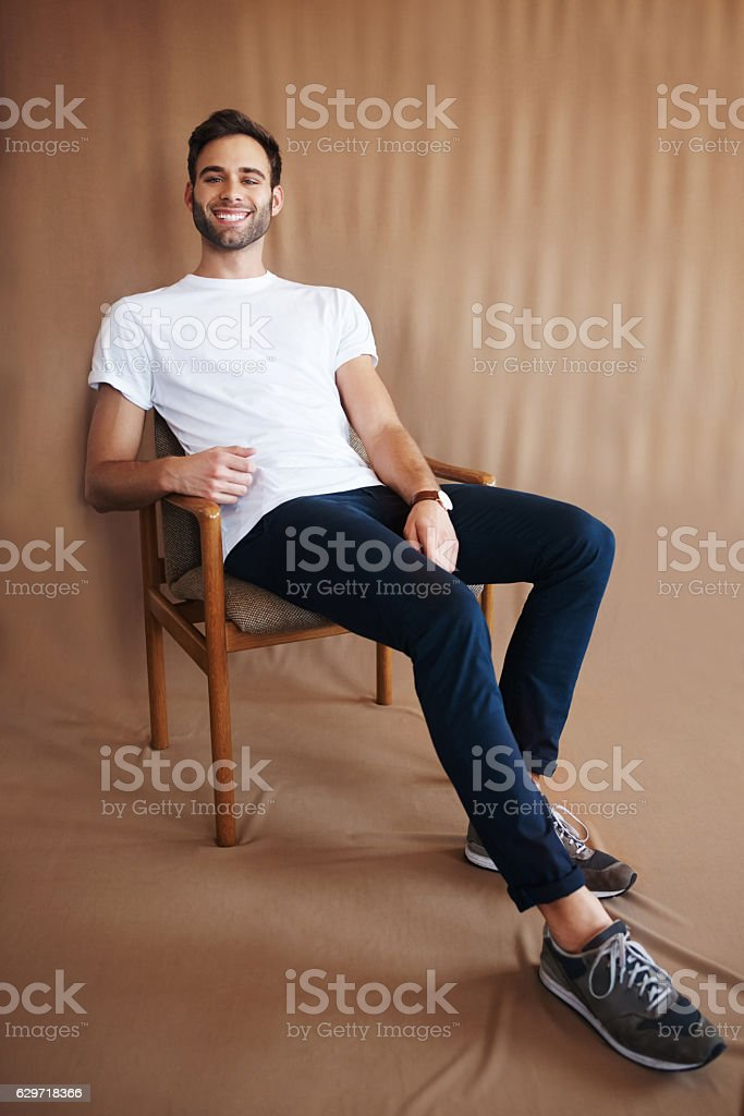 If anyone needs me I'll be right here chilling stock photo