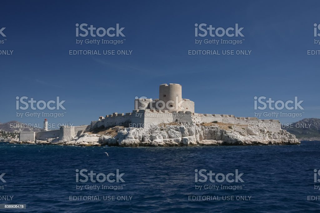 If castle near Marseille, France stock photo