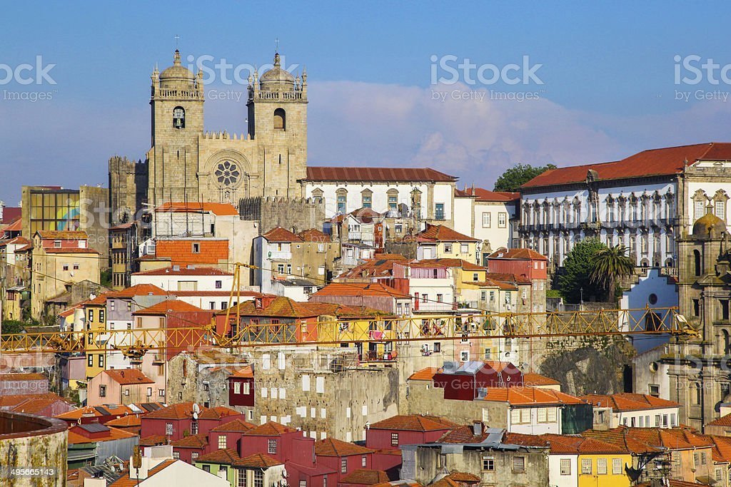 Se Cathedral in Porto stock photo