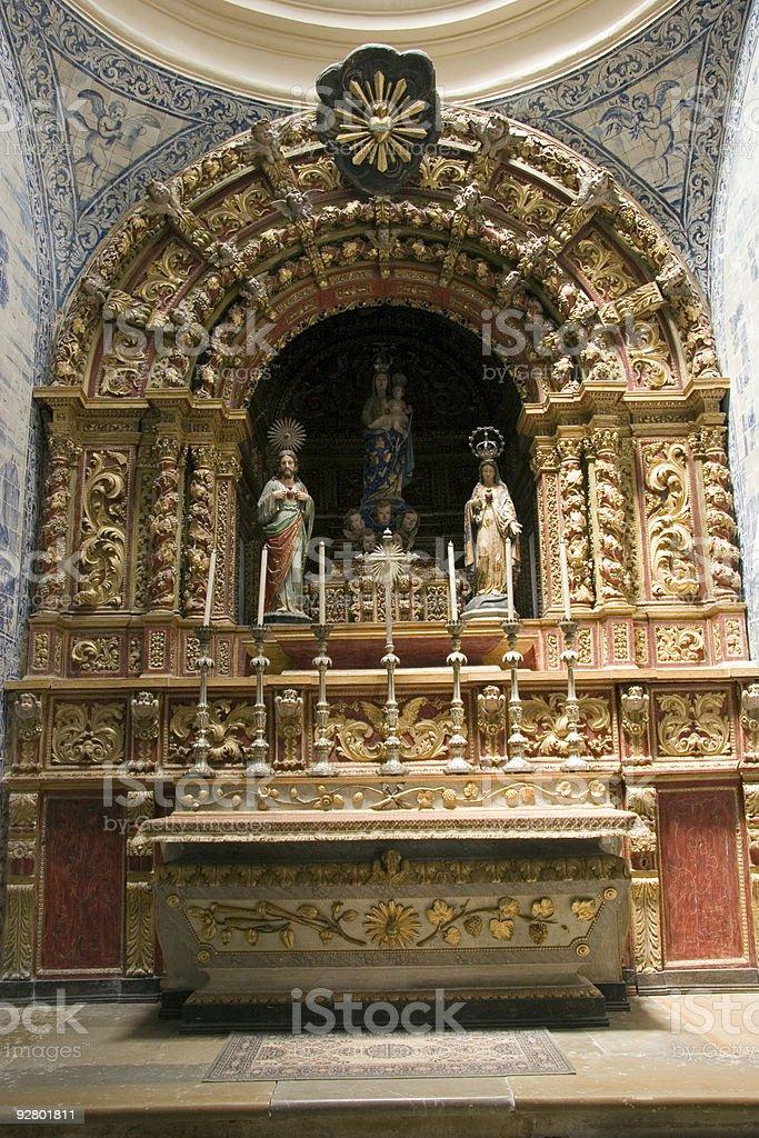 Se Catedral Capela Sagrado Coracao de Jesus Side Chapel Faro stock photo