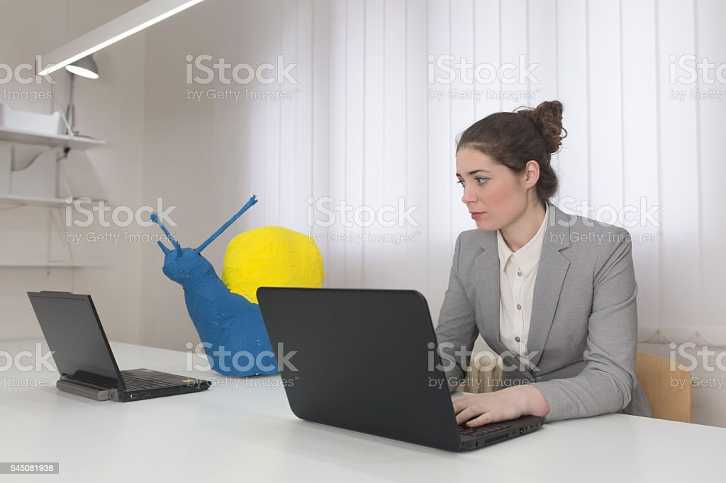 If i could work like that stock photo