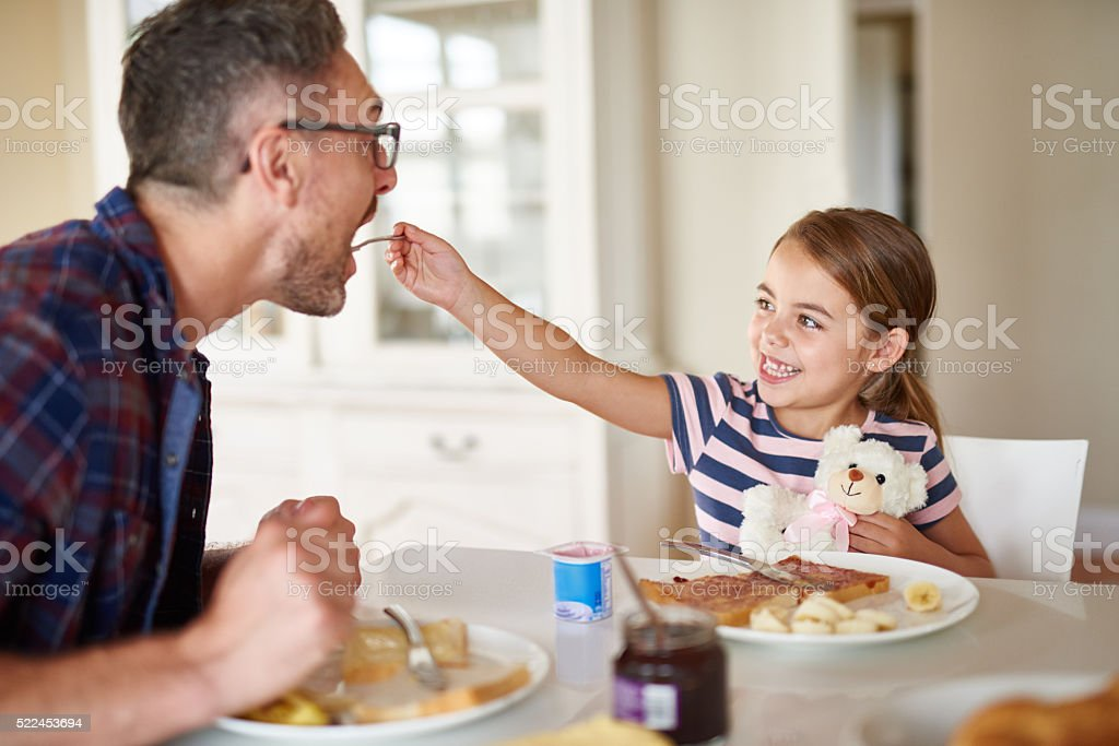If I don't take care of you daddy, who will? stock photo