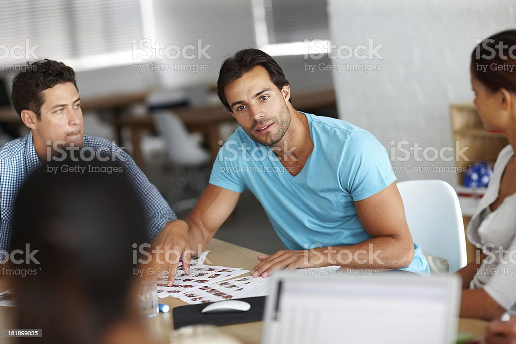 If you look over here... royalty-free stock photo
