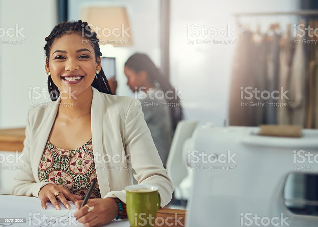 If you want to look fashionable, I'm your girl stock photo