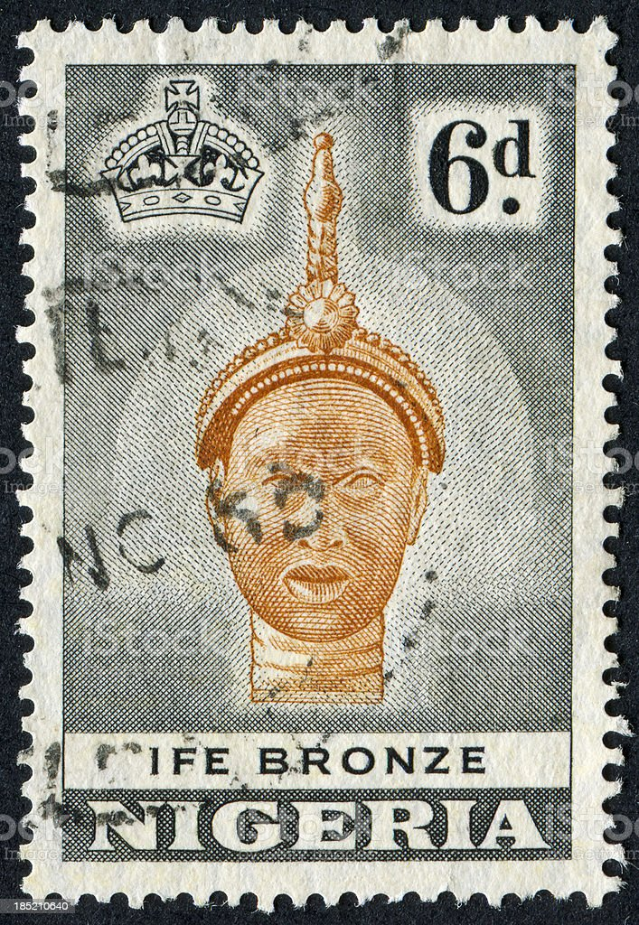 Ife Bronze Stamp royalty-free stock photo