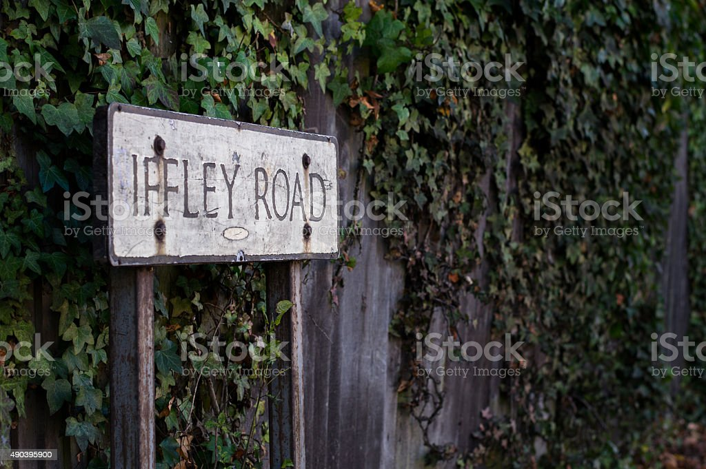 Iffley road sign stock photo