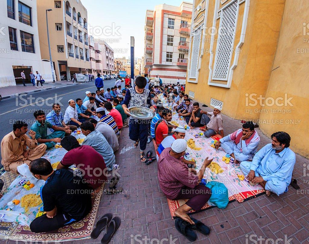 Iftar in Dubai stock photo