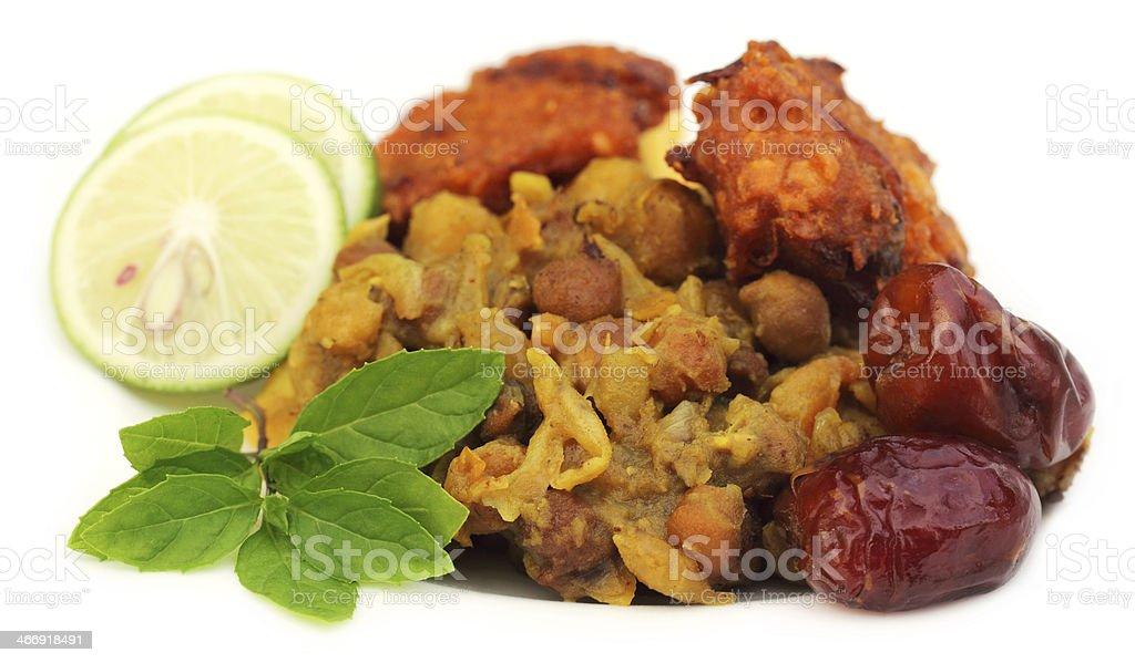 Iftar items for holy Ramadan in Bangladesh stock photo