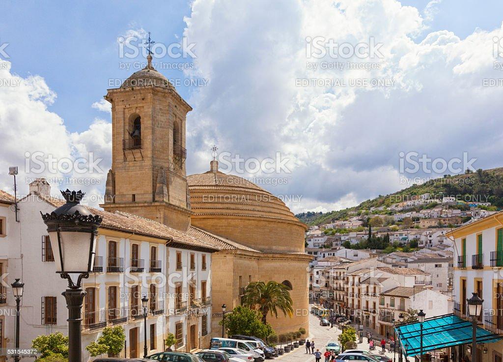 Iglesia de la Encarnacion, Montefrio, Spain stock photo